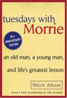 book cover graphic of Tuesdays with Morrie